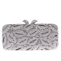 Fawziya Bling Lips Clutch Purse Rhinestone Clutch Evening ClutchesSilver >>> Click on the image for additional details.