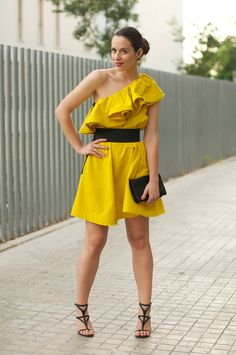 Lanvin for H dress + earcuff _ street style by Macarena Gea