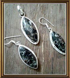 Turtle Jasper handmade pendant set