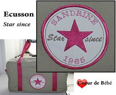 ecusson star since Free Machine Embroidery Designs, Janome, Couture, Stars, Motifs, Comme, Free Machine Embroidery, Bebe, Cross Stitch
