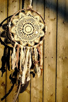 GOOD VIBES custom doily dream catcher by Run2theWild on Etsy