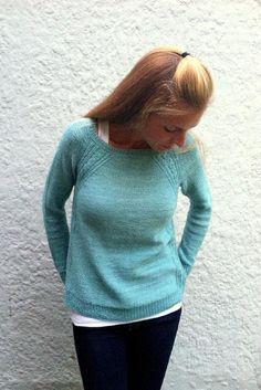 Caroline Knitting pattern by Amy Miller | sweater raglan knitting pattern | affiliate