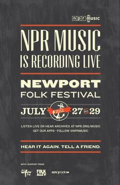 NPR Music - Newport Folk Festival 2012 Poster