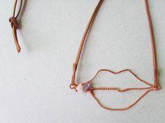 Very Kiss Amethyst Quartz & Copper Pendant by Yaansoon on Etsy