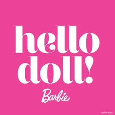 Welcome cards - Barbie party