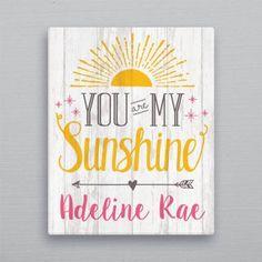 Sunshine Birthday Parties, First Birthday Parties, First Birthdays, Sunshine Crafts, Sunshine Pictures, Birthday Painting, Sunshine Baby Showers, Personalised Canvas, Personalized Baby