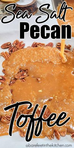 Sea Salt Pecan Toffee | Barefeet in the Kitchen Christmas Fudge, Christmas Dishes, Christmas Baking, Christmas Goodies, Christmas Candy, Christmas Appetizers, Christmas Treats, Christmas Recipes, Holiday Recipes