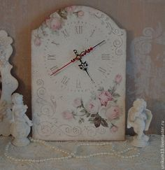 "Часы для дома ручной работы. Ярмарка Мастеров - ручная работа Часы ручной работы "" Винтажная роза"". Handmade."