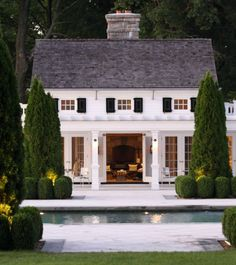 poolhouse and i love the landscapig poolhous, dreams, dream homes, pool houses, backyard, guest houses, dream houses, landscape designs, pools