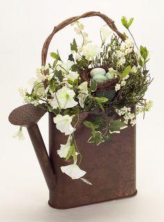 Hanging Floral Watering Can Arrangement Item #62536