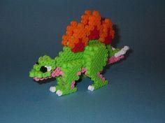 DIY 3D Stegosaurus perler beads - Photo tutorial