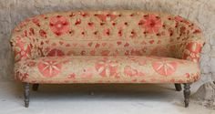 Kantha couch. Vintage sari fabric. This chair deserves it's own room. In morocco.