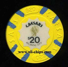 Atlantic city Casino Chip of the Day is a $20 Caesars 1st issue you can get here http://www.all-chips.com/ChipDetail.php?ChipID=17817