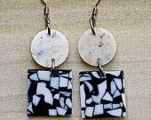 Recycled Corian and Acrylic Earrings