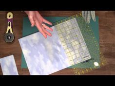 Quilty: how to cut fabric using a rotary cutter and mat with Marianne Fons - YouTube