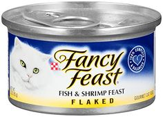 Purina Fancy Feast Flaked Fish & Shrimp Feast Cat Food - (24) 3 oz. Pull-top Can