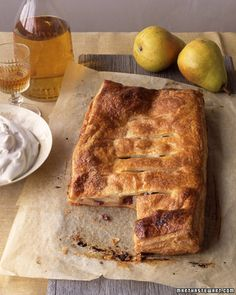 Pear and Sour Cherry Flat Pie - Martha Stewart Recipes