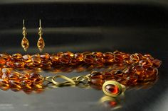 Citrine necklace and earrings- new work by Denise Betesh- Trunk Show July 24th Summer of Color Gold Rush !
