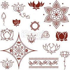 In Buddhism: Lotus :This pattern of growth signifies the progress of the soul from the primeval mud of materialism, through the waters of experience, and into the bright sunshine of enlightenment. Can't wait for my lotus tattoo:) Henna Tatoos, Henna Art, Future Tattoos, New Tattoos, Mehndi Designs, Tattoo Designs, Lotus Flower Meaning, Lotus Flowers, Arte Mehndi