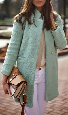Mint longline Wool Coat