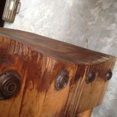 Vintage-Antique-Butcher-Block-Table-Kitchen-Maple-Solid-Hardwood-Wood-Commercial