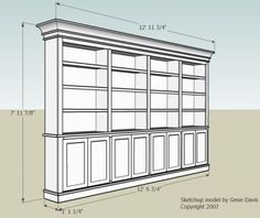 Built-in bookcase plans