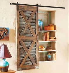 Barnwood Sliding Door This could be made very inexpensively
