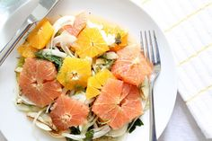 Citrus Salad With Roasted Fennel and Mint.
