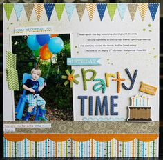 1 photo 1 page ...Cute birthday layout