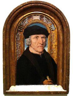 Clever Procurator  Jacob van Oostsanen, detail from Portrait of Jacob Pijnssen, 1512.