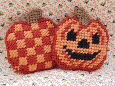Halloween Jack-o-Lanturn Mini Pillow by BunniesMadeOfBread on Etsy