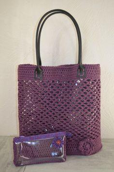 Mon sac au crochet , intérieur transparent !!!                                                                                                                                                      Plus