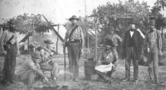 This picture of the 9th Mississippi Infantry photographed in 1861 at Pensacola, Florida is a perfect example of the non-uniform dress of confederate soldiers, especially early in the war.