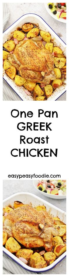 Oozing with oregano, lemon and garlic, my Greek Roast Chicken and Roast Potatoes is incredibly easy to make, ready in under 1h30 and only uses one pan!