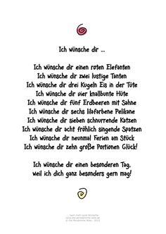 Die Persönliche Note: Ich wünsche dir ... Humorvolles Gedicht für viele Gelegenheiten!