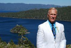 "Say your ""I do"" above the beautiful ""Big Blue!""  Emerald Bay is one of most popular intimate wedding venues in Lake Tahoe. #laketahoeweddings #emeraldbay #desitnationweddings"