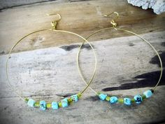 Sea Inspired Magnesite & Serpentine Large Brass by KittyLovesLou