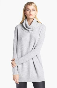 Vince Chevron Knit Turtleneck Sweater