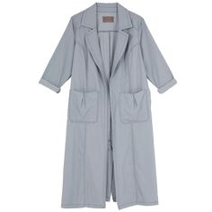 Melissa Mccarthy Seven7 Plus Utilitarian Chambray Duster Coat ($89) ❤ liked on Polyvore featuring plus size women's fashion, plus size clothing, plus size outerwear, plus size coats, jackets, plus size, rinse blue, utility coat, blue coat and womens plus size coats