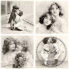 Nostalgisch servet 'liefdes' | Nostalgie | Nostalgie & Brocante