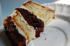 Пряничный дом: Полосатый торт с белым шоколадом: в соблазне прошу винить...