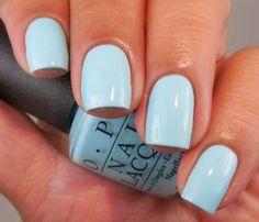It's also simple to remove with a normal nail polish remover. Nail polish usually requires a while to dry. The nail polish has an adequate formula Purple Pastel, Bleu Pastel, Pastel Nails, Acrylic Nails, Wedding Nail Polish, Light Blue Nails, Blue Nail Polish, Opi Polish, Fall Nail Art