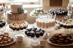 Dessert bar by Cocoa and Fig- Photo by Laura Ivanova Photography