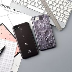 LANCHE Cell Phone Cases For iPhone 6 Case For iPhone 6 7 Soft TPU Moon Surface Stone Pattern Phone Cover For iPhone 6 S 7 Plus
