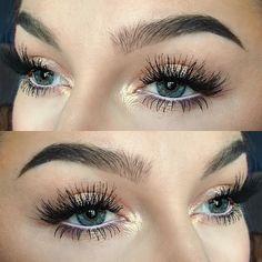 Golden natural makeup