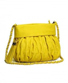 Yellow Quilted Clutch