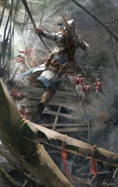 """Assassin's Creed III"" concept art by Max Qin"