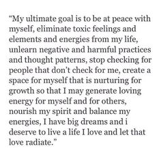 My ultimate goal ...