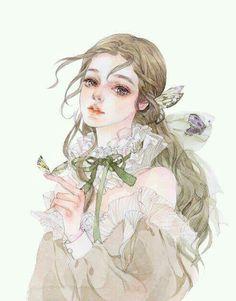Fantasy Kunst, Fantasy Art, Copic Drawings, Manga Watercolor, Social Media Art, Digital Art Anime, Cartoon Girl Drawing, Cute Illustration, Anime Art Girl