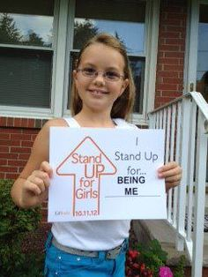 """I stand up for being me""        As all girls should!"